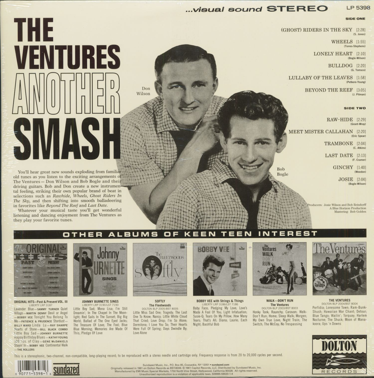 The Ventures Lp Another Smash 1961 180g Limited Edition
