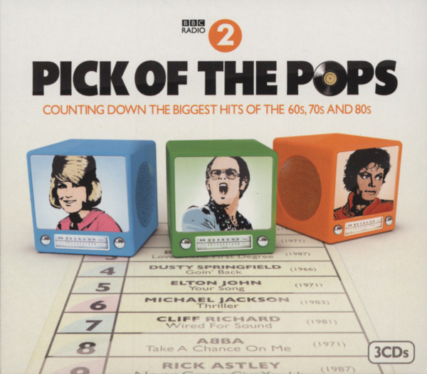 Pick Of The Pops BBC Radio2 - Counting Down The Biggest Hits Of The 60s, 70s And 80s (3-CD)