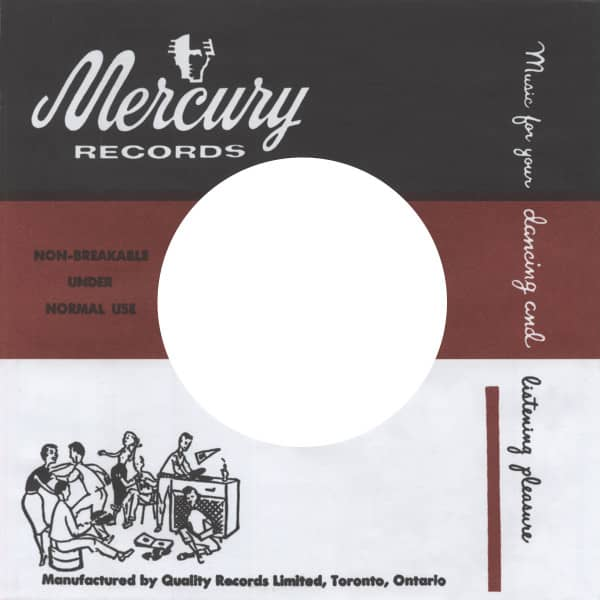 (50) Mercury, Canada - 45rpm record sleeve - 7inch Single Cover