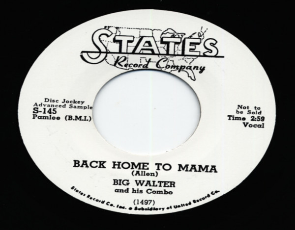 Back Home To Mama b-w Southern Women 7inch, 45rpm