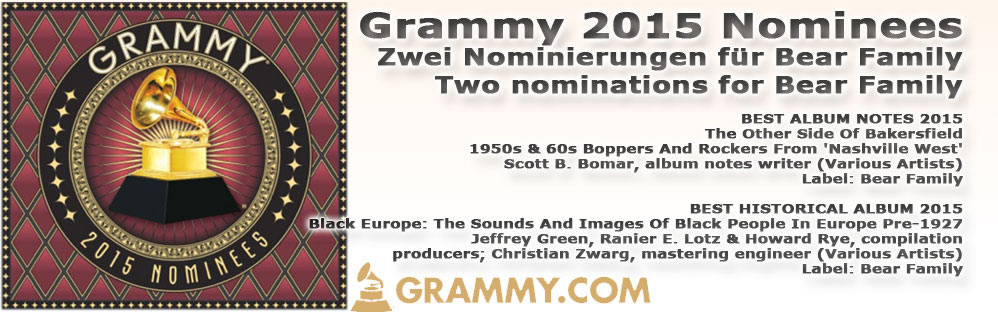 Grammy Nominierung 2015 für Bear Family Records