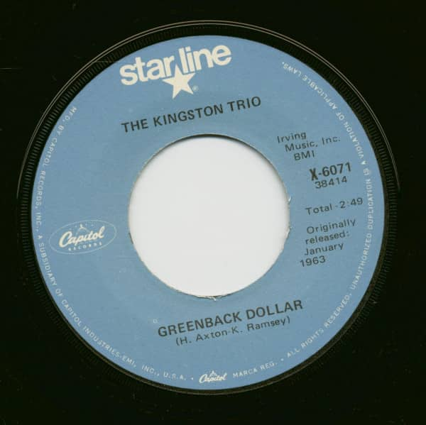 Greenback Dollar - Reverend Mr. Black (7inch, 45rpm)