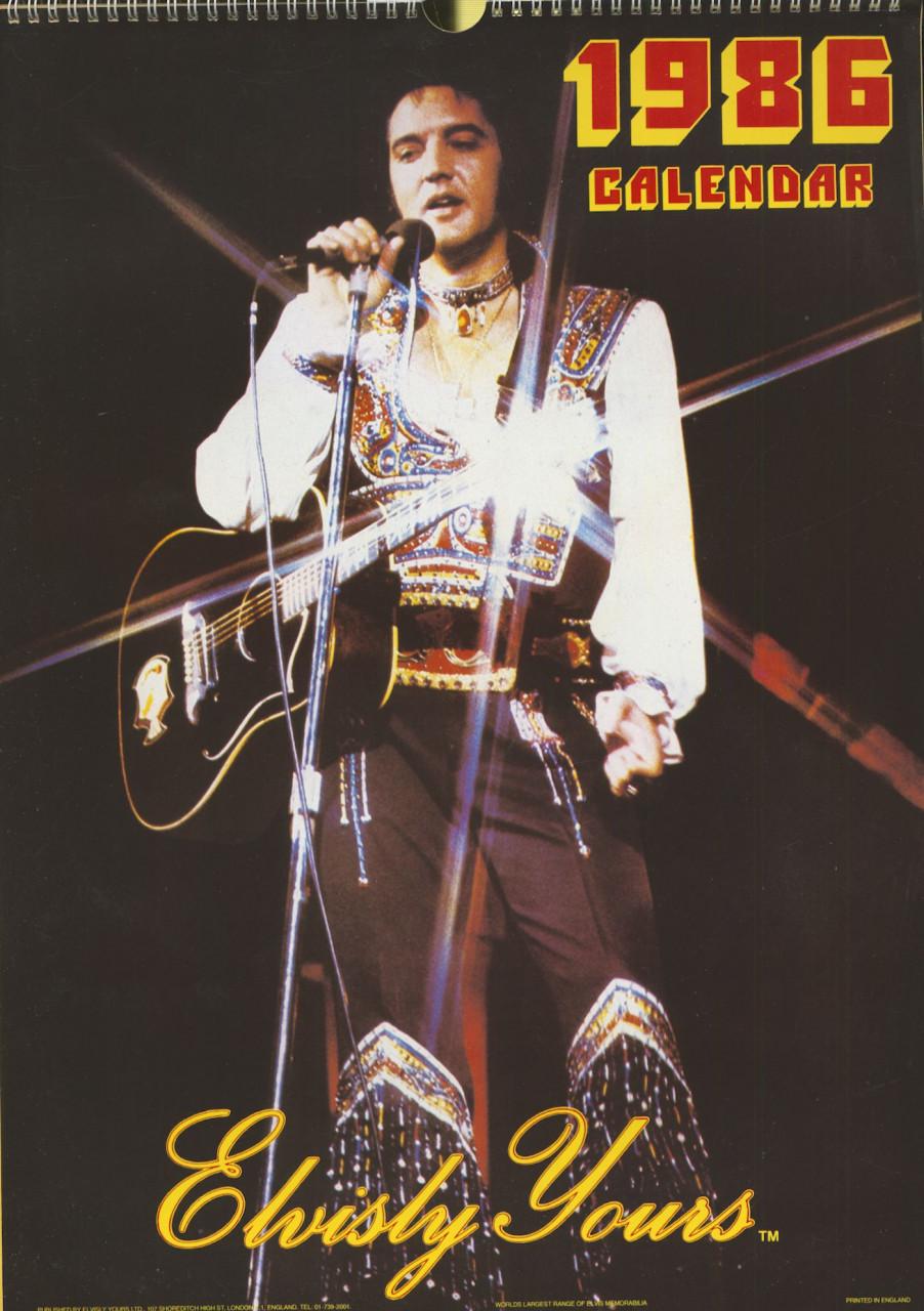 Elvis Presley - Elvis Presley - Elvisly Yours - 1986 Calendar