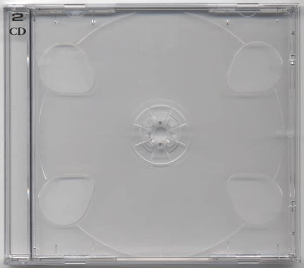 CD Leerhülle mit durchsichtigen Tray für 2 CDs