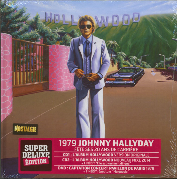 Hallyday - Hollywood (2-CD & 2-DVD Book)