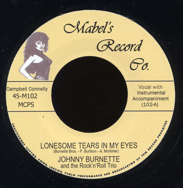 Lonesome Tears In My Eyes b-w Your Baby Blue Eyes 7inch, 45rpm