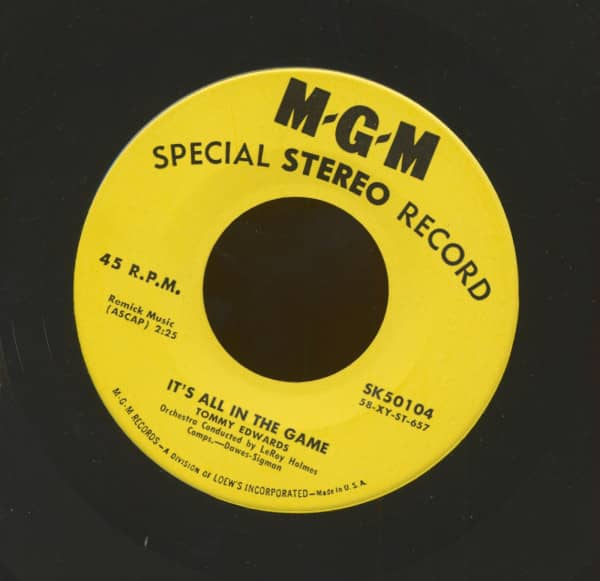 It's All In The Game -Love Is All We Need (7inch, 45rpm, Stereo)