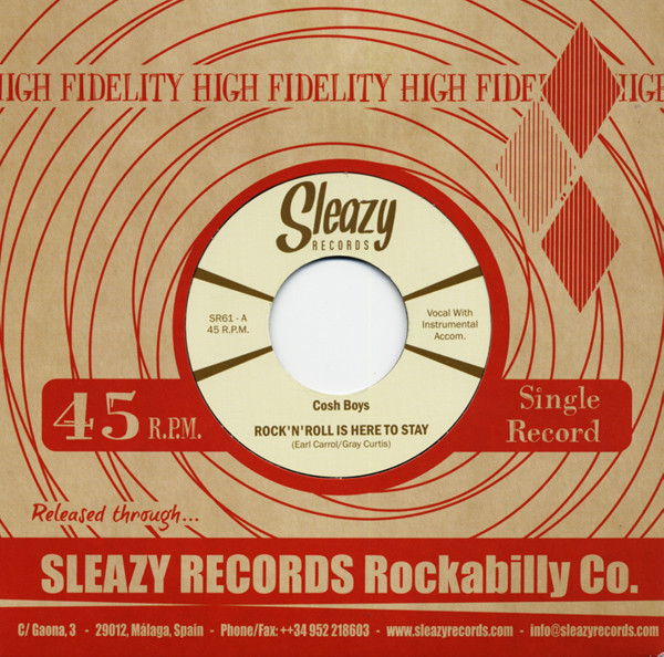 Rock'n'Roll Is Here To Stay b-w You're Leavin' Me 7inch, 45rpm
