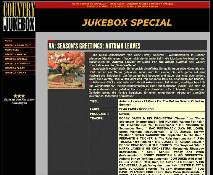 Presse-Archiv-Autumn-Leaves-29-Gems-for-the-Indian-Summer-Country-Jukebox