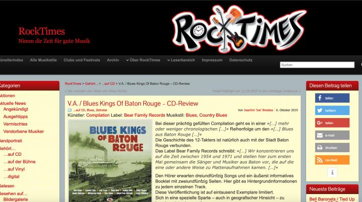 Presse-Archiv-Various-Artists-Blues-Kings-Of-Baton-Rouge-2-CD-rocktimes