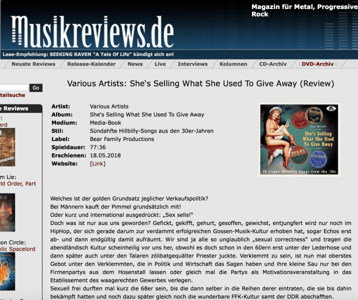 Presse-Archiv-She-s-Selling-What-She-Used-To-Give-Away-musikreviews-de