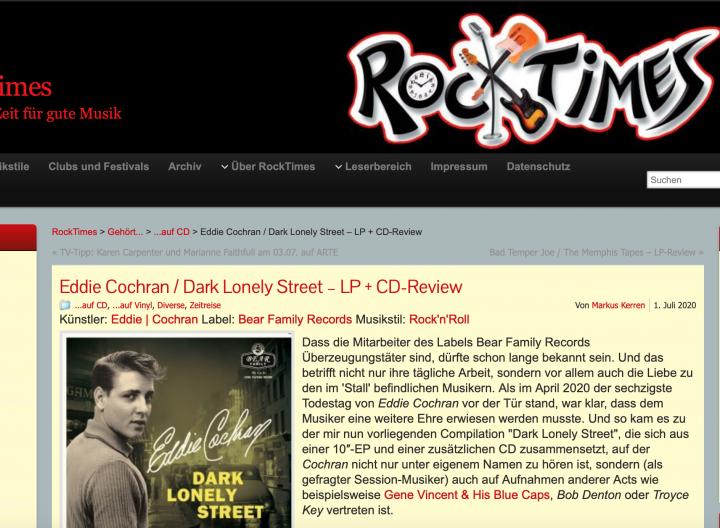 Presse-Archiv-Eddie-Cochran-Dark-Lonely-Street-Commemorative-Album-rocktimes