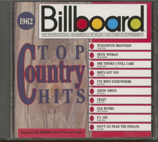 1962, Billboard Top Country Hits (CD)
