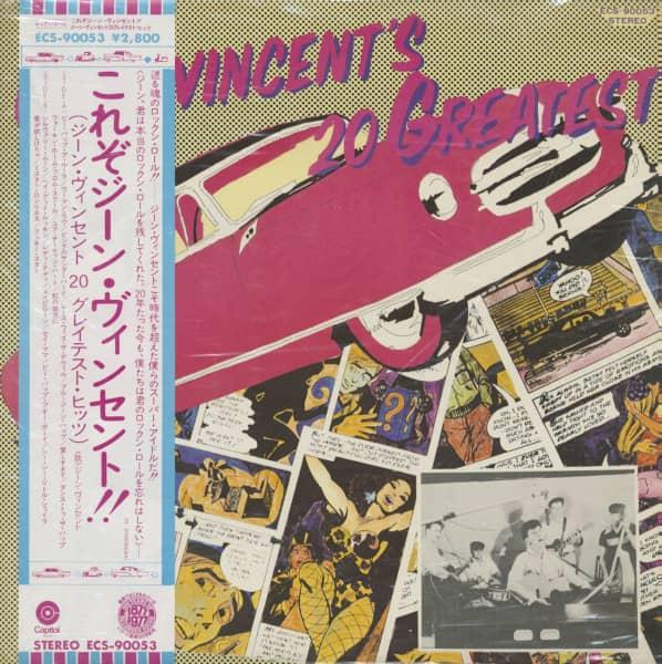 Gene Vincent's 20 Greatest Hits (LP, Japan)