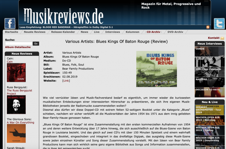 Press-Archive-Various-Artists-Blues-Kings-Of-Baton-Rouge-2-CD-Musikreviews