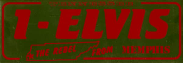 The Rebel From Memphis - Bumper Sticker (Gold - Red Letters)