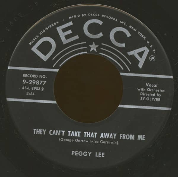They Can't Take That Away From Me - Joey, Joey, Joey (7inch, 45rpm, BC)