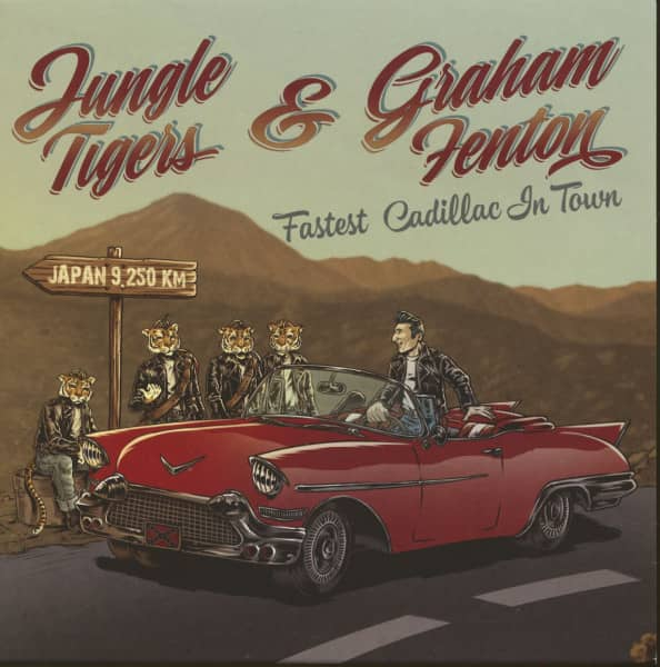 Jungle Tigers And Graham Fenton - Fastest Cadillac In Town (7inch, 45rpm, EP, PS, SC)