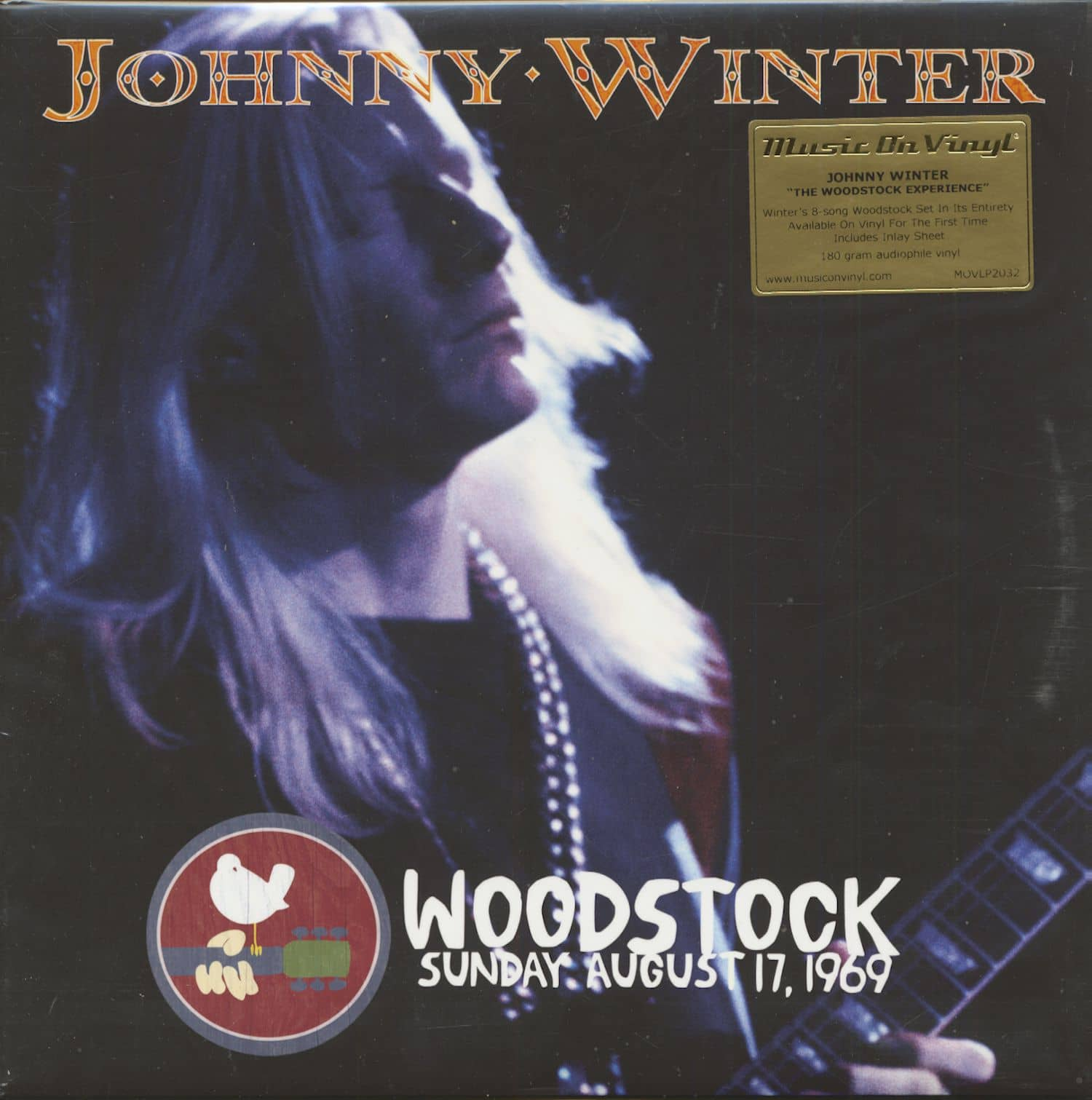 Johnny Winter Lp Woodstock Sunday August 17 1969 2 Lp