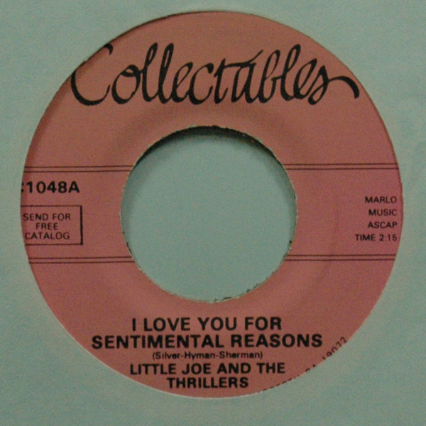 I Love You For Sentimental Reasons b-w One More Time 7inch, 45rpm