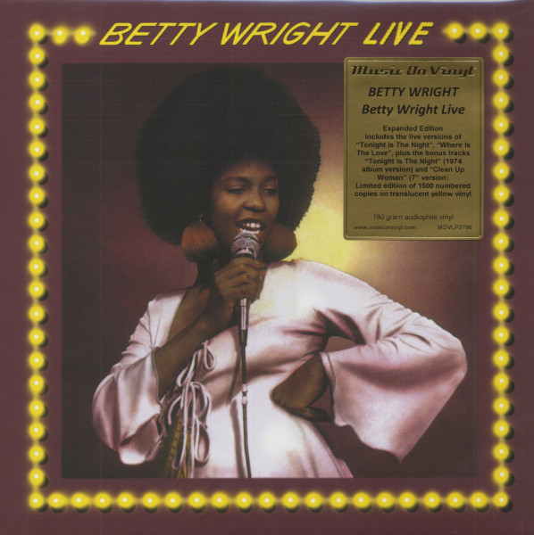 Betty Wright Live (LP, 180g Yellow Vinyl, Ltd & Numbered)