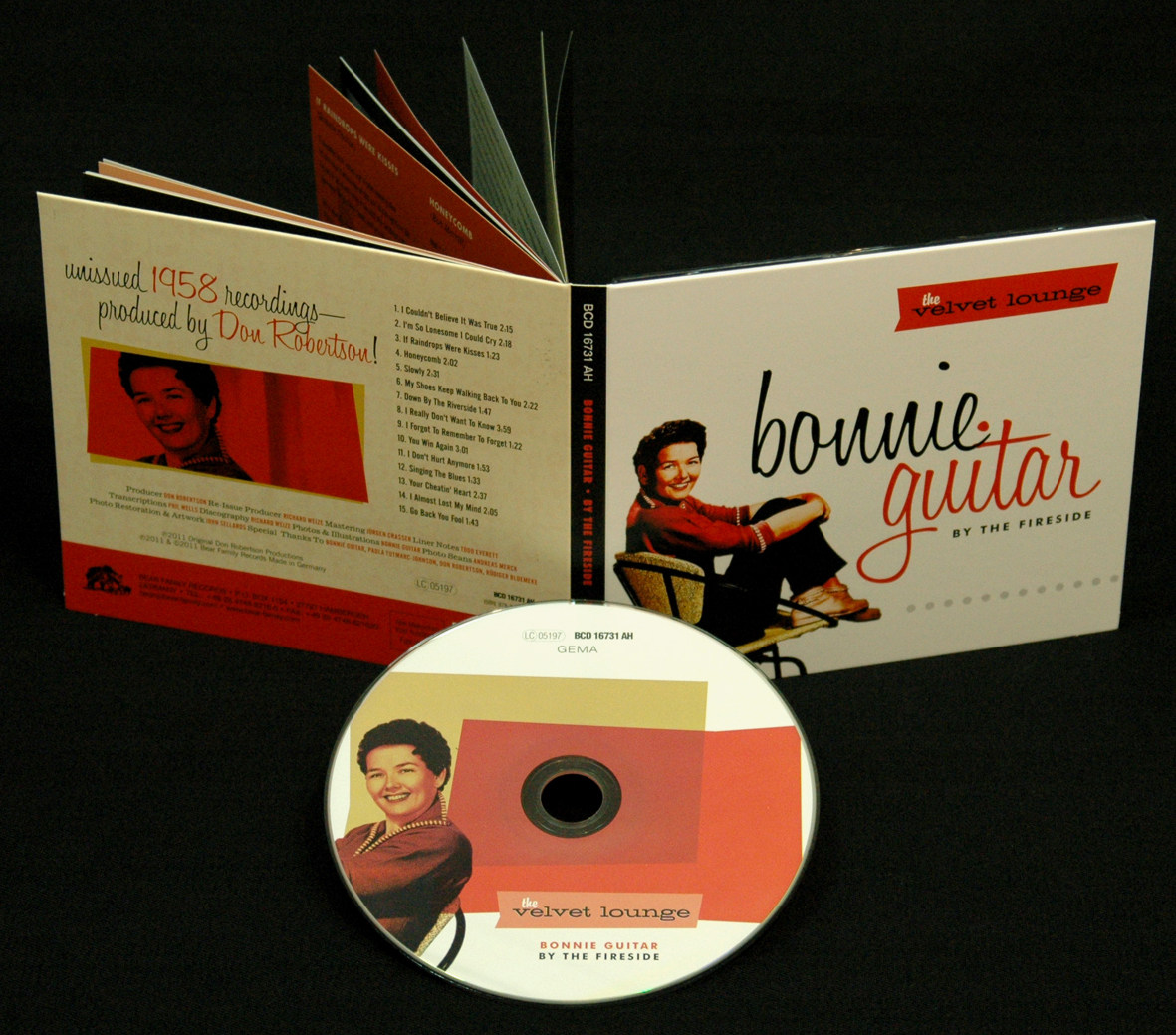 Bonnie Guitar Cd By The Fireside The Velvet Lounge