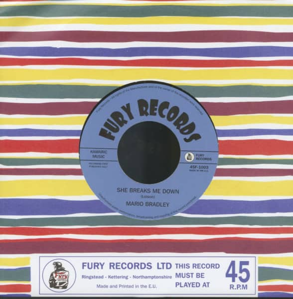 Boppin' To Grandfather's Clock - She Breaks Me Down (7inch, 45rpm)