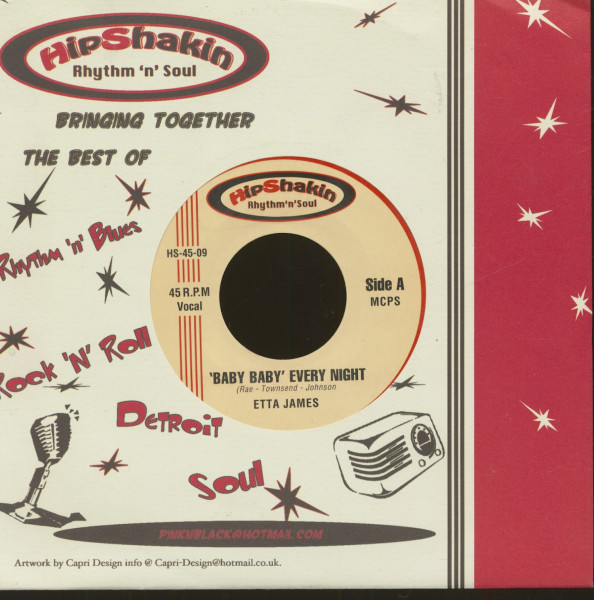 Baby Baby Every Night - Something's Gotta Hold On me(7inch, 45rpm, BC)