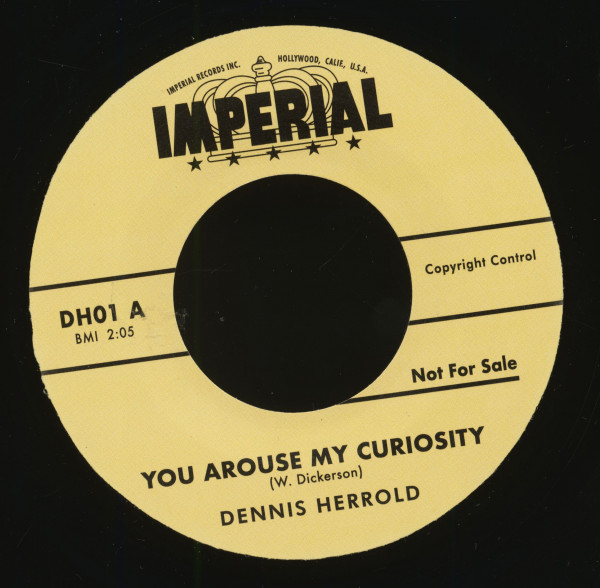 You Arouse My Curiosity - Don't Push Away (7inch, 45rpm, BC)