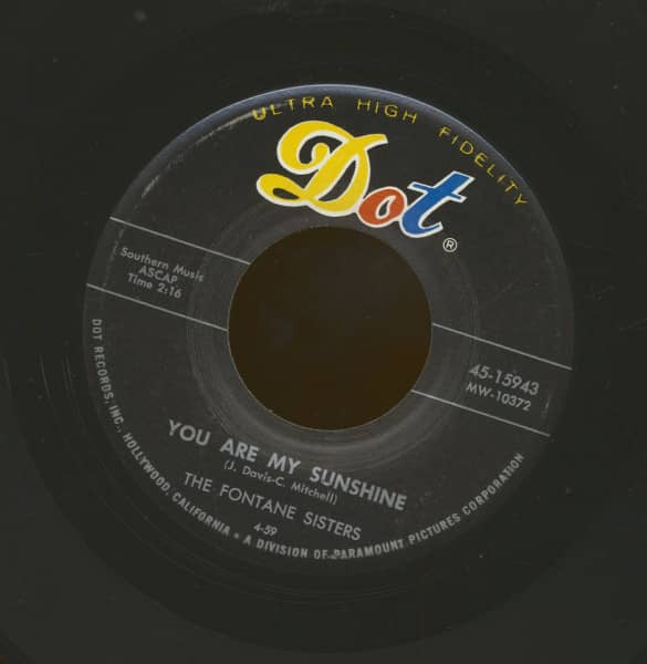 You Are My Sunshine - A Lovers Hymn (7inch, 45rpm)