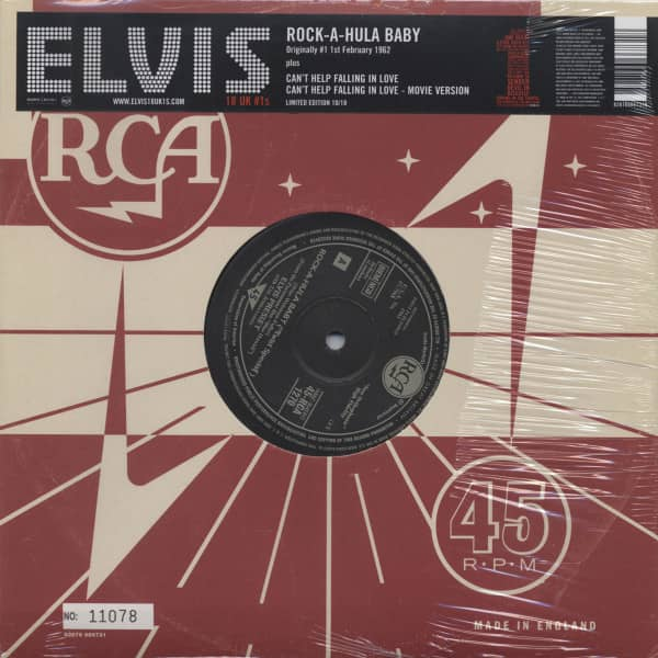 18 UK #1s Vol.10 - Rock-A-Hula-Baby (10inch, 45rpm, Ltd., Numbered)