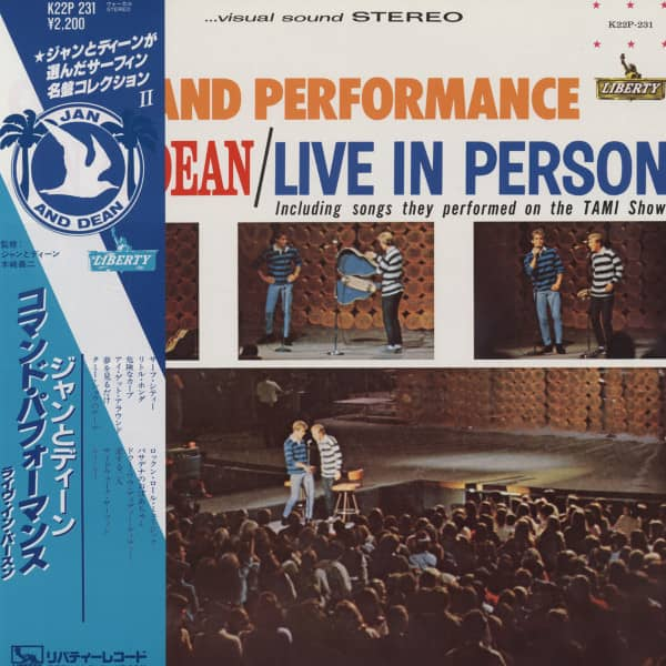 Command Performance Jan & Dean - Live in Person (Japan Vinyl-LP)