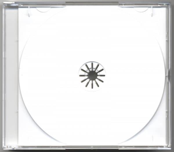 CD Leerbox mit weißem Tray für 3 CDs