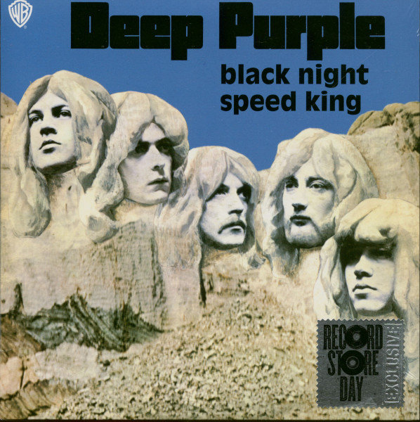 Black Night - Speed King (7inch, 45rpm, SC, Blue Opaque Vinyl)
