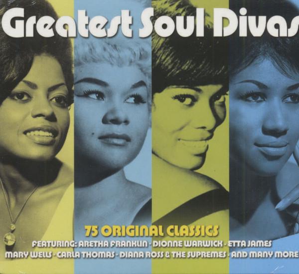 Greatest Soul Divas - 75 Original Classics (3-CD)