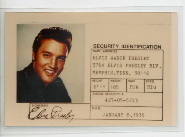 Elvis Souvenir Photo ID
