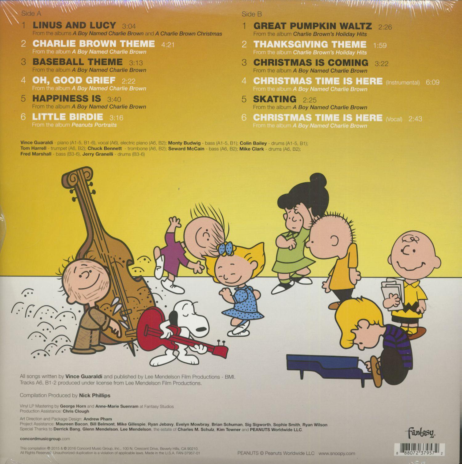 Vince Guraldi Trio Lp Peanuts Greatest Hits Picture Lp
