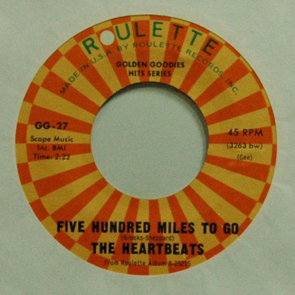Five Hundred Miles To Go b-w After New Year's Eve 7inch, 45rpm