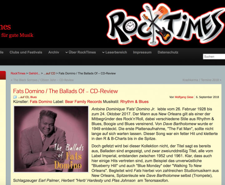 Presse-Archiv-Fats-Domino-The-Ballads-Of-Fats-Domino-rocktimes
