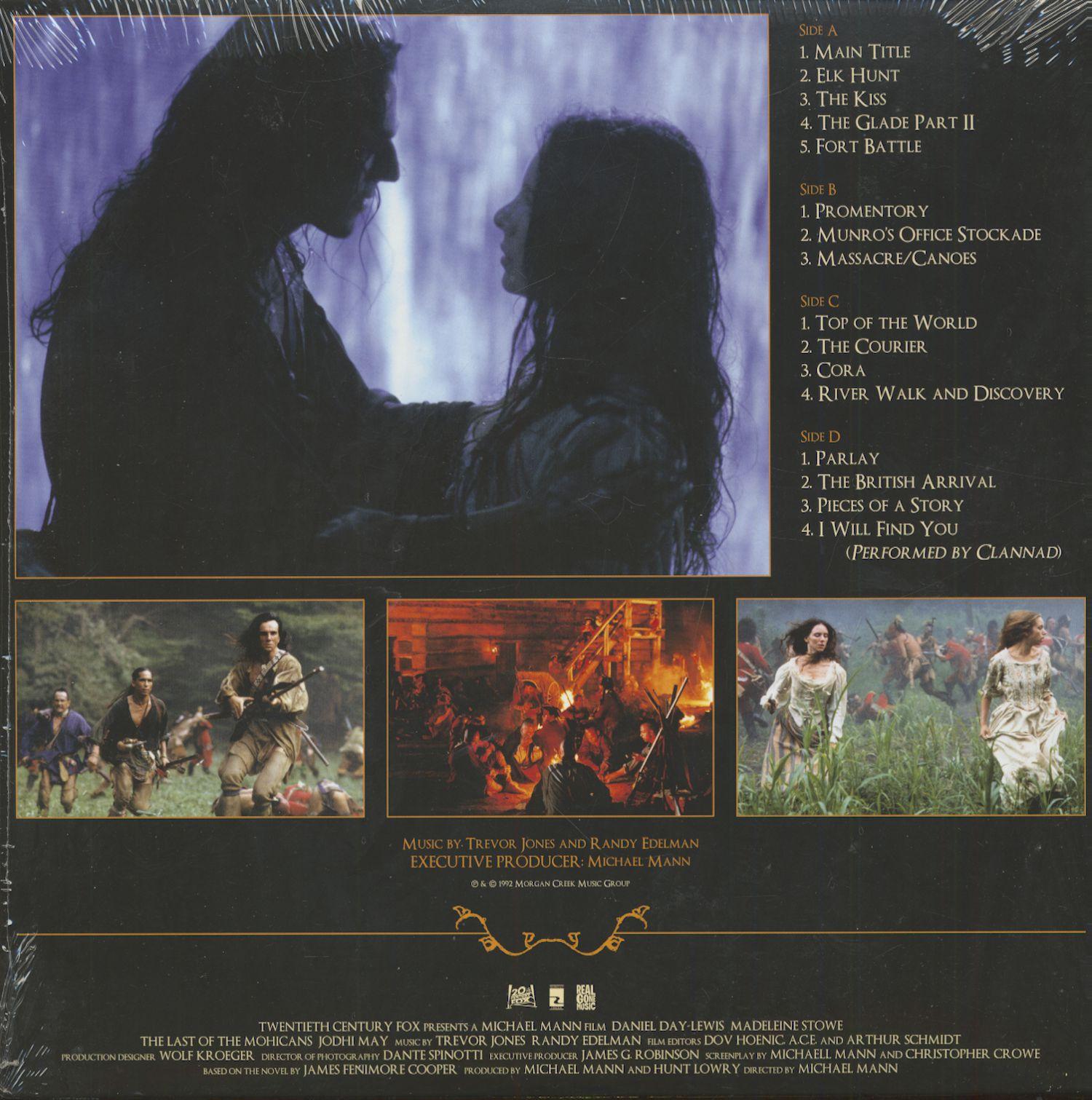 Trevor Jones Amp Randy Edelman Lp The Last Of The Mohicans