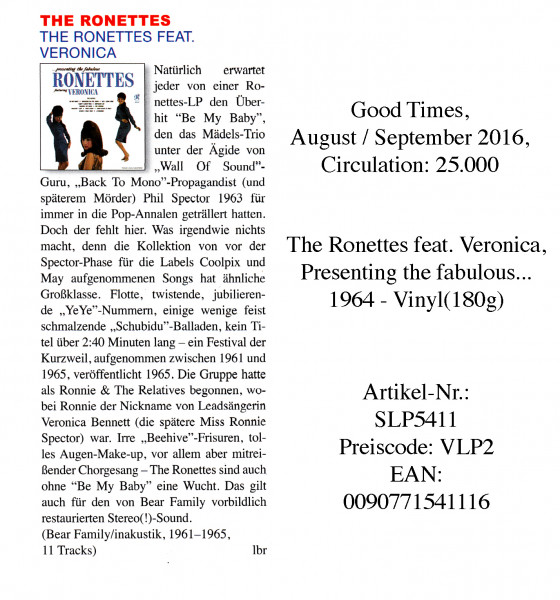 TheRonettes_GoodTimes_August-September16-1