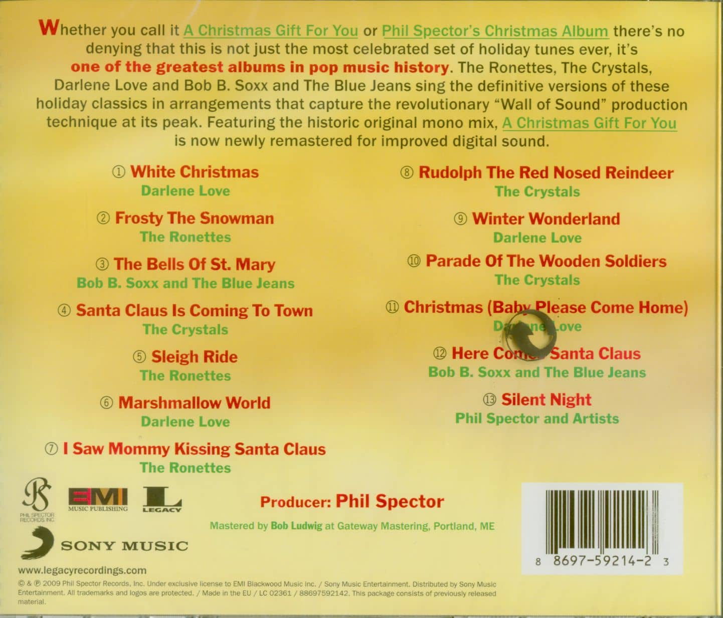 Various CD: A Christmas Gift For You From Phil Spector (CD) - Bear Family Records