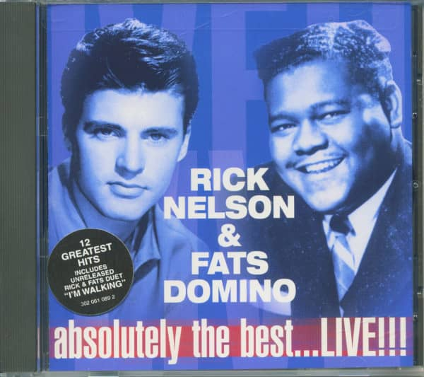 Ricky Nelson & Fats Domino - Absolutely The Best...Live (CD, Cut-Out)