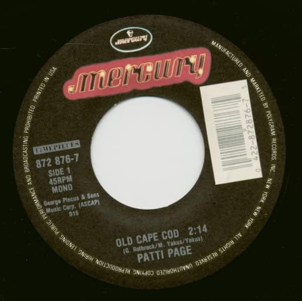 Old Cape Cod - Mister And Mississippi (7inch, 45rpm)