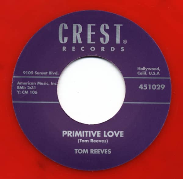 Primitive Love - Baby I'm A Lonesome Cowboy (7inch, 45rpm)