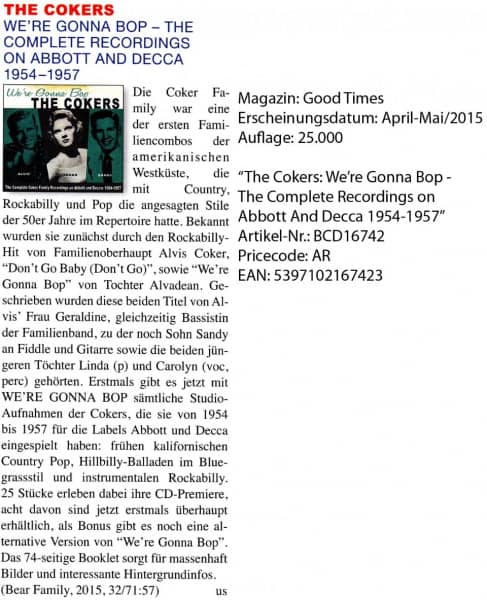 The-Cokers_Good-Times_April-Mai-2015