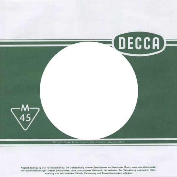 (50) Decca - 45rpm record sleeve - 7inch Single Cover