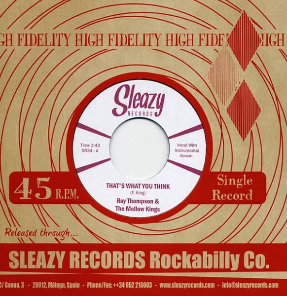 That's What You Think b-w Stung Over You 7inch, 45rpm, PS