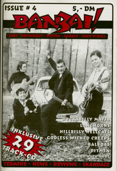 Surf - Rockabilly - Psycho - Garage Fanzine #4 (incl.CD)