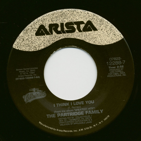 I Think I Love You - Doesn't Somebody Want To Be Wanted (7inch, 45rpm)
